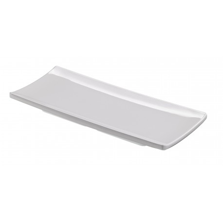 Tacka hotelowa biała, płaska z serii Le Perle, mała - 5szt