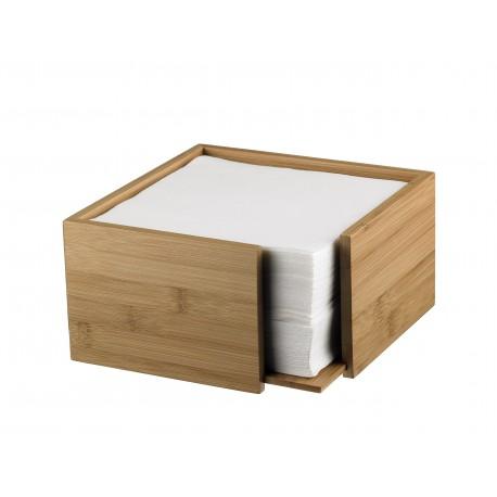 Pojemnik, podajnik do serwetek z drewna bambusowego - 1szt. S0086