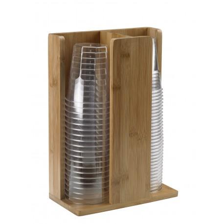 Pojemnik, podajnik do szklanek z drewna bambusowego - 1szt. S0105