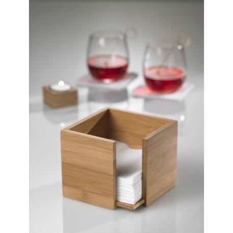 Pojemnik, podajnik do serwetek z drewna bambusowego, średni - 1szt. S0085