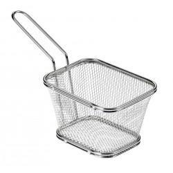 Koszyk na smażone przekąski, prostokątny,  z stali nierdzewnej - 1szt, T5419