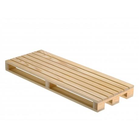 Podstawka w kształcie palety, drewniana, do serwowania dań, duża - 1szt, S0203