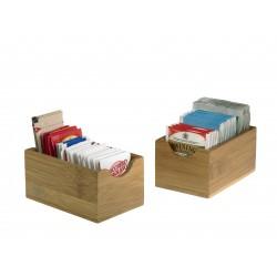 koszyk, pojemniczek, na przyprawy, z drewna bambusowego, mały - 6 szt, S0079