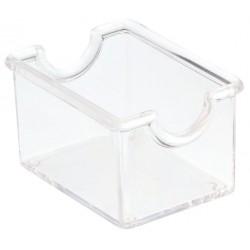 koszyk, pojemniczek na saszetki, z akrylu, przezroczysty - 12 szt, T5000