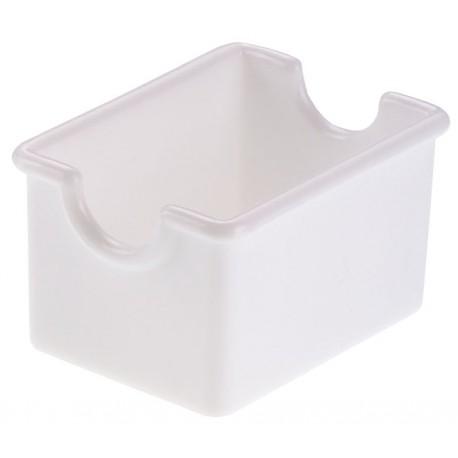 koszyk, pojemniczek na saszetki, z akrylu, biały - 12 szt, T5000