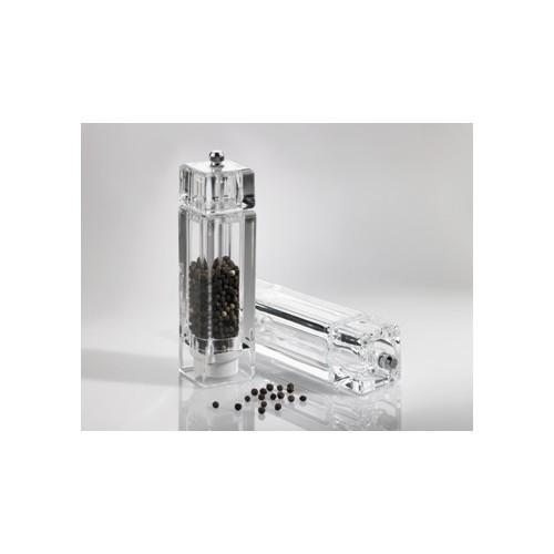 Ręczny młynek do przypraw, soli, pieprzu, kwadratowy - 1szt T5035