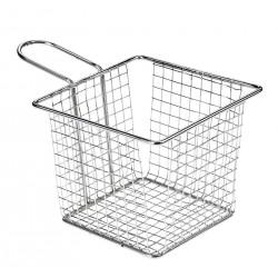 hotelowe.co | Koszyk na smażone przekąski, kwadratowy, z stali