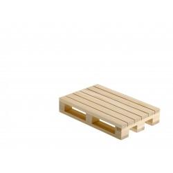 Podstawka w kształcie palety, drewniana, do serwowania dań, mała - 1szt, S0201