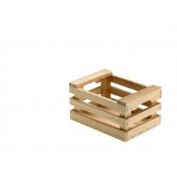 Skrzynka drewniana, do serwowania dań, średnia - 1szt, S0204