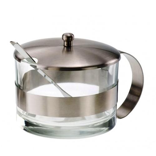 Pojemnik na cukier lub tarty ser,  z stali nierdzewnej - 1szt T5403