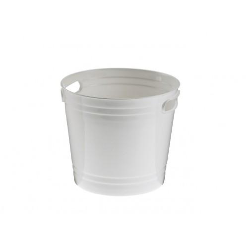 Wiadro, wiaderko na lód, plastikowe, białe  - 1szt T5008.Y