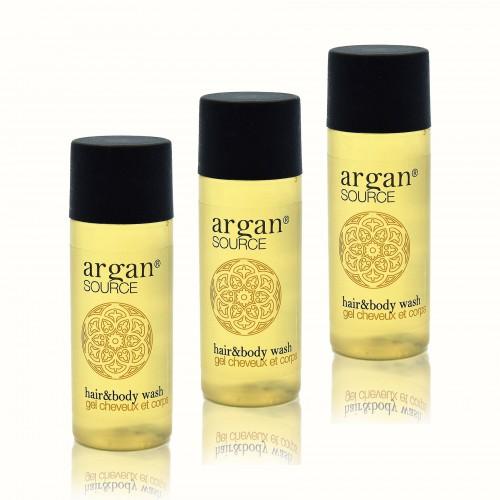Hotel Einweg Set Shampoo&Duschgel Argan 30ml 450 Stück mir Arganöl