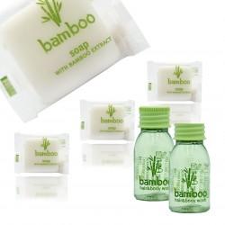 Zestaw Kosmetyczny dla Hoteli Bamboo szampon-żel 20ml 100szt + mydło 13g 100szt