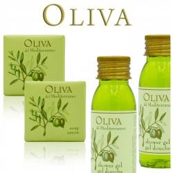 Zestaw Kosmetyczny dla Hoteli Oliva żel 30ml 100szt + mydło 20g 100szt