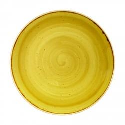 Salaterka ręcznie malowana Churchill  STONECAST MUSTARD SEED YELLOW