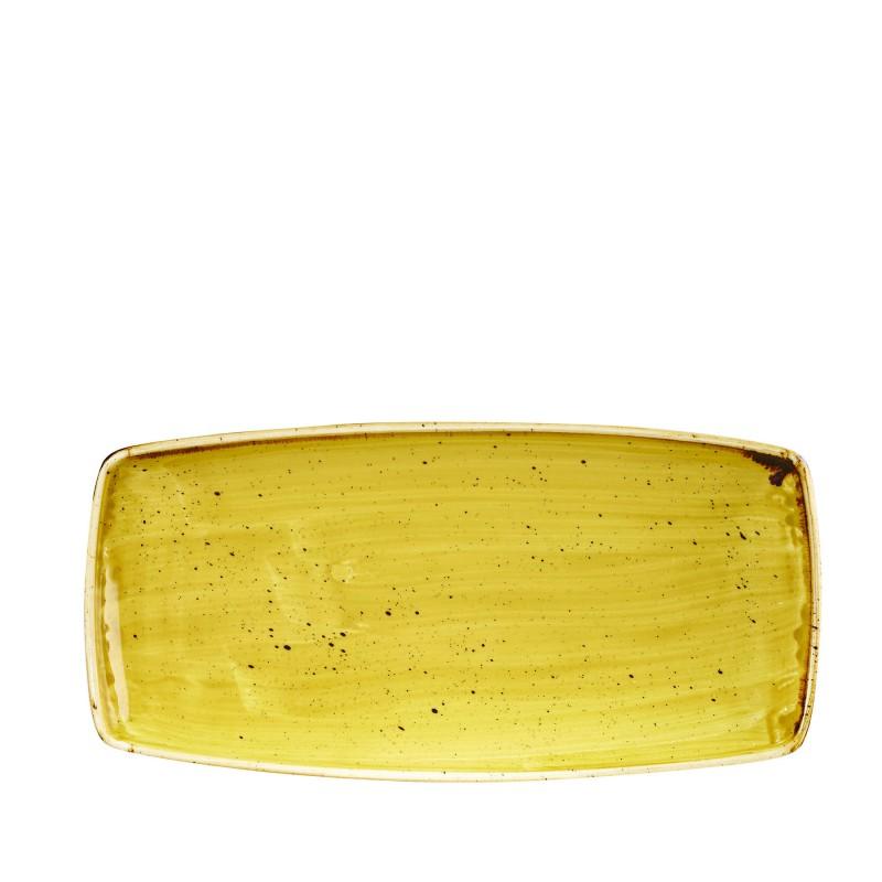 Półmisek prostokątny ręcznie zdobiony Churchill STONECAST MUSTARD SEED YELLOW