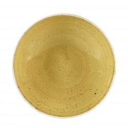 Talerz Okrągły ręcznie zdobiony Churchill, STONECAST MUSTARD SEED YELLOW