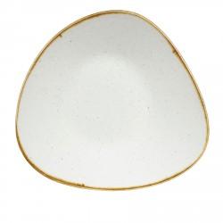 Talerz porcelanowy trójkątny 31 cm Evolve STONECAST BARLEY WHITE