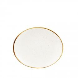 Talerz porcelanowy owalny 19,2 cm Evolve STONECAST BARLEY WHITE
