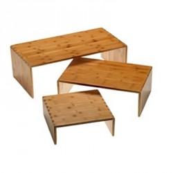hotelowe.co | 3 częściowy ekspozytor z drewna bambusowego, do