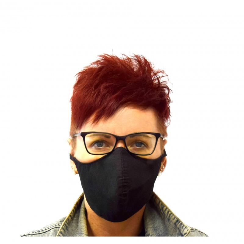 Maska, maseczka ochronna, dwuwarstwowa, dopasowana, wielorazowa  z filtrem