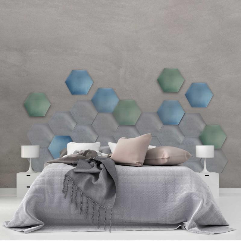 Panel tapicerowany sześciokąt, do własnego montażu, 3D różne