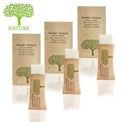 Zestaw kosmetyków dla hoteli Nature szampon-żel 10ml mydełko 10g