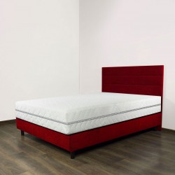 Łóżko kontynentalne z materacem  kieszeniowym i pianką visco