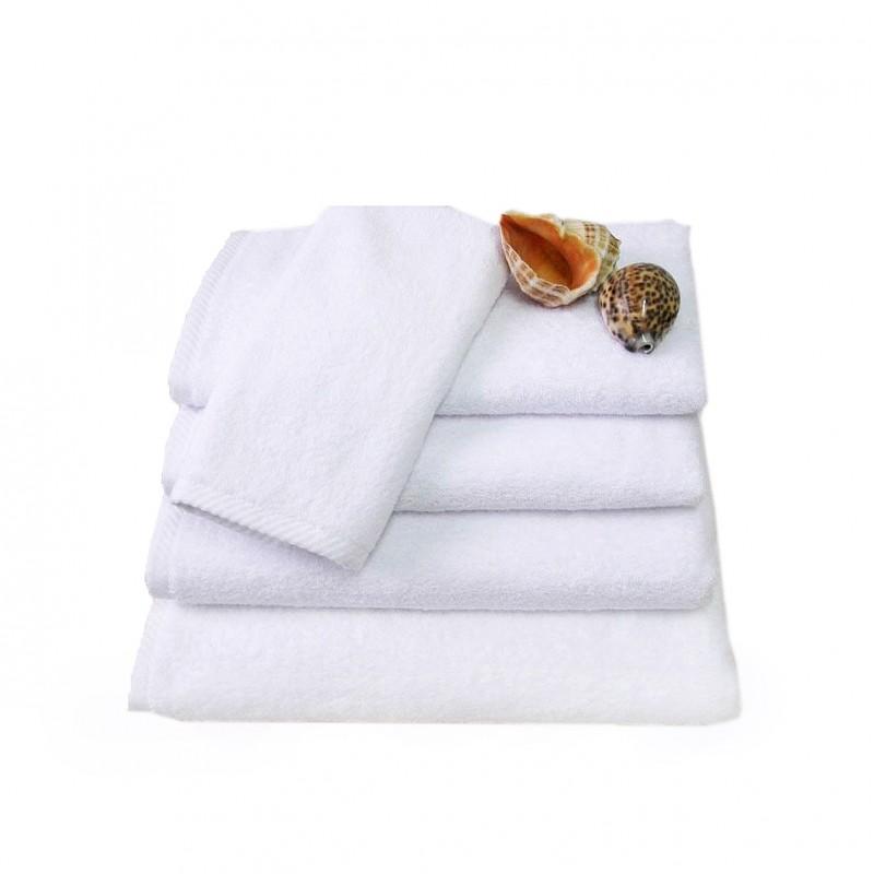 Białe ręczniki hotelowe Rimini 100% bawełna 500 g/m2