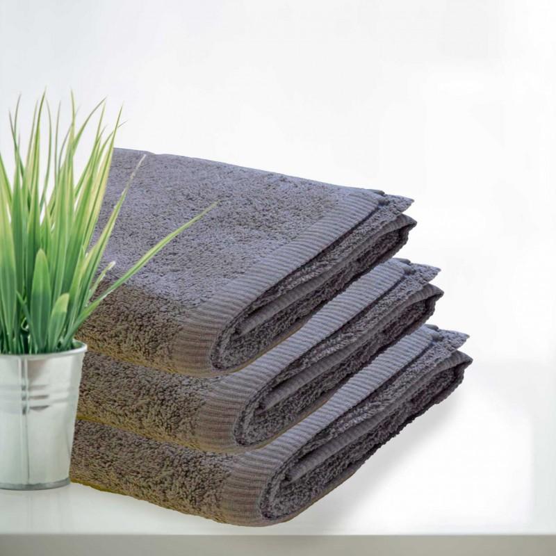 RĘCZNIKI BAWEŁNIANE | Ręcznik HOTELOWY kolor Szary 100% bawełna