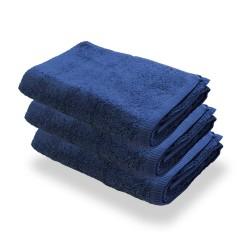 Granatowe Ręczniki Hotelowe Rimini 100% bawełna 500 g/m2