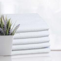Białe ręczniki hotelowe 50x100cm Modena 100% bawełna 400 g/m2