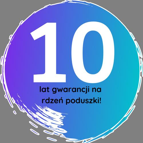 poduszki z 10 lat gwarancji